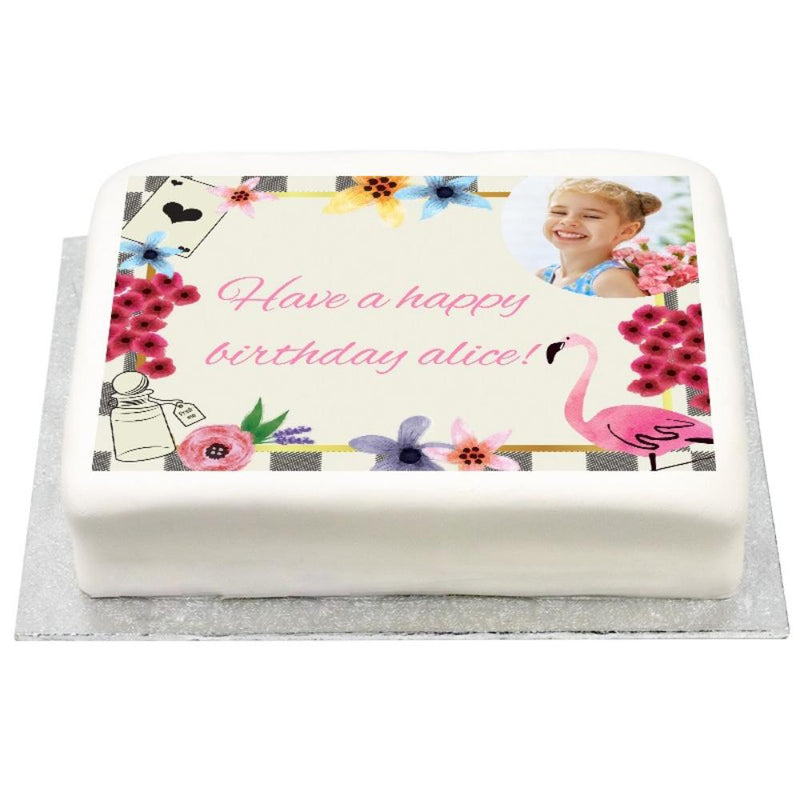 Personalised Photo Cake - Tea Party