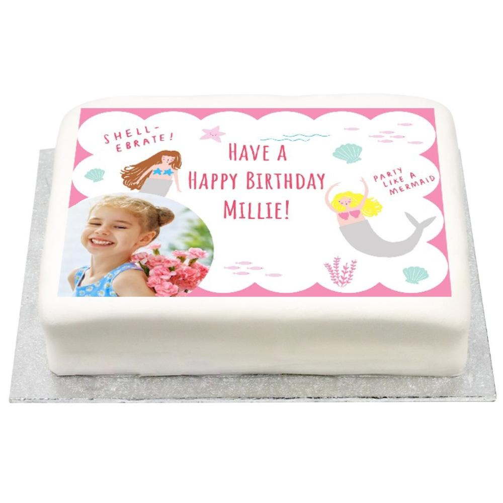 Personalised Photo Cake - Let's Be Mermaids