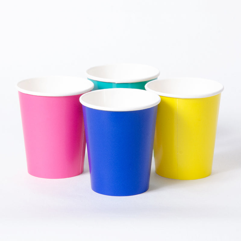We Heart Brights Paper Party Cups (x12)