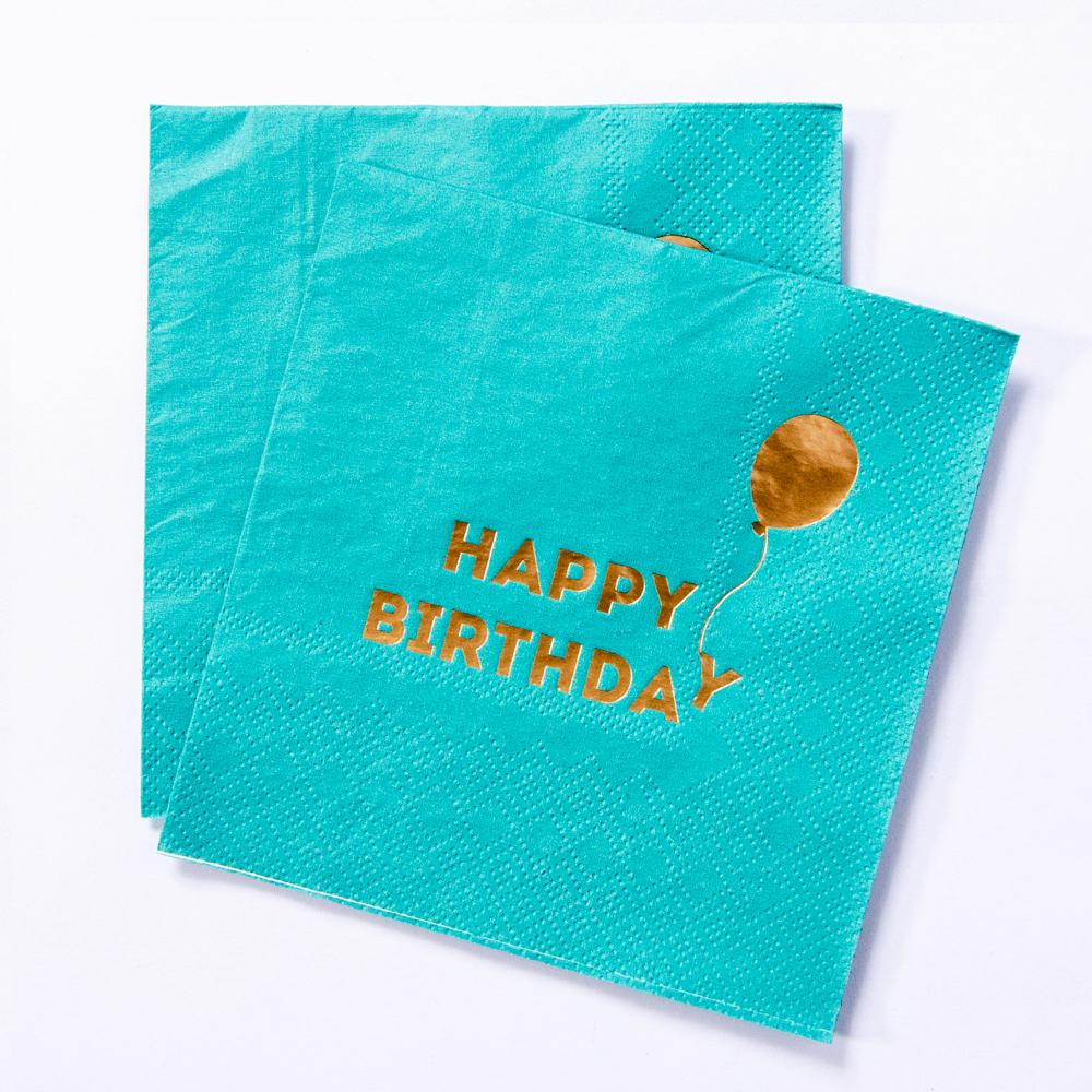 We Heart Brights Birthday Paper Party Napkins (x16)