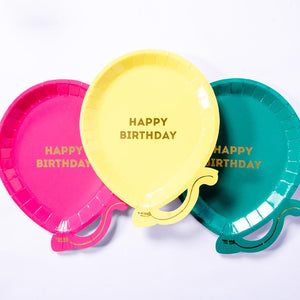 We Heart Brights Birthday Paper Party Plates (x12)