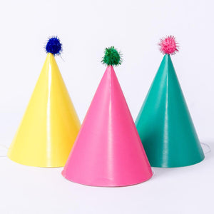 We Heart Brights Paper Party Hats (x4)