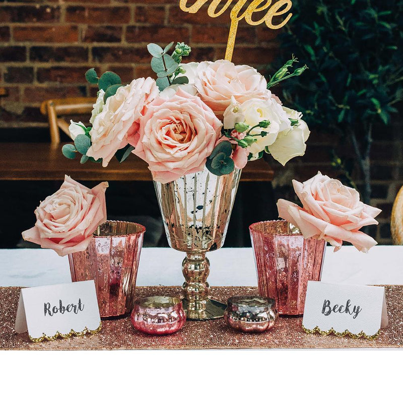 Rose Gold Party Table Decorations Kit