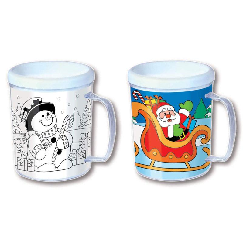 Kids Colour-In Christmas Mug