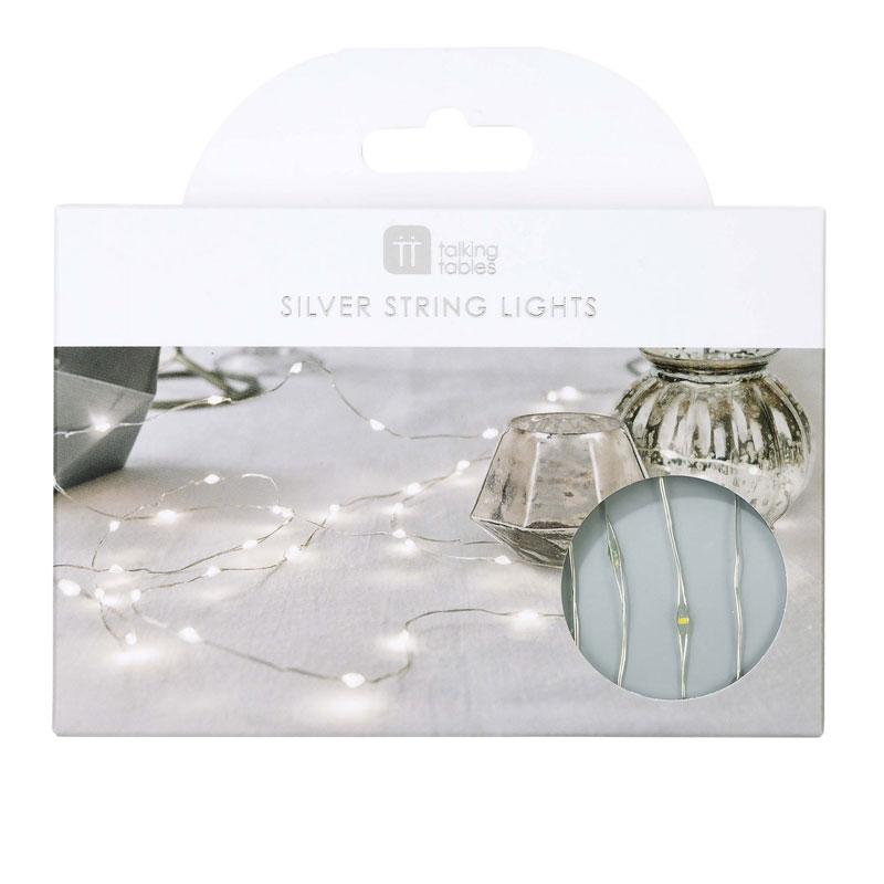 Silver LED String Lights (3m)