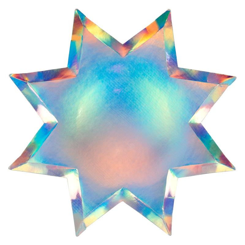 Iridescent Star Party Plates (x8)