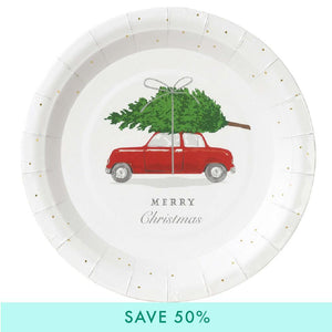 Christmas Car Party Plate (x8)