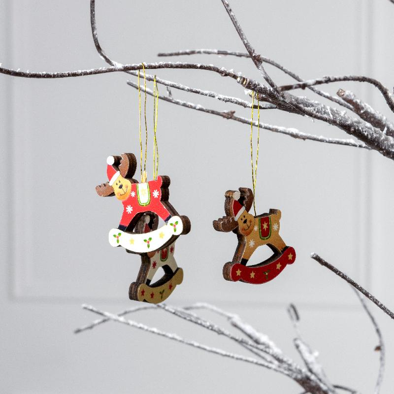 Rocking Christmas Reindeer Decorations (x18)