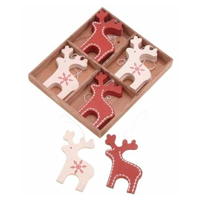 Nordic Christmas Reindeer Decorations (x12)