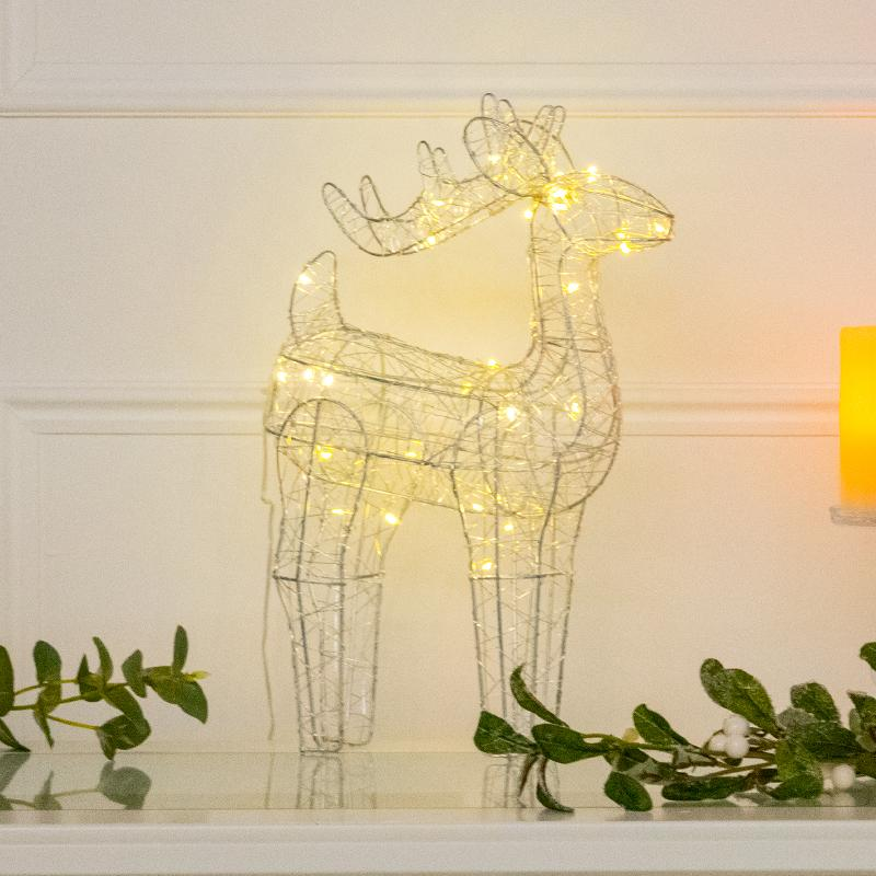 LED Wire Christmas Reindeer Decoration