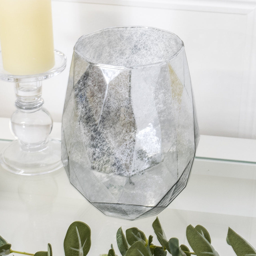 Lustre Tea Light Holder Silver