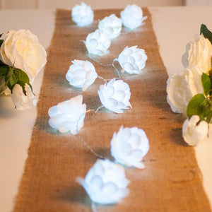 White LED Flower Lights
