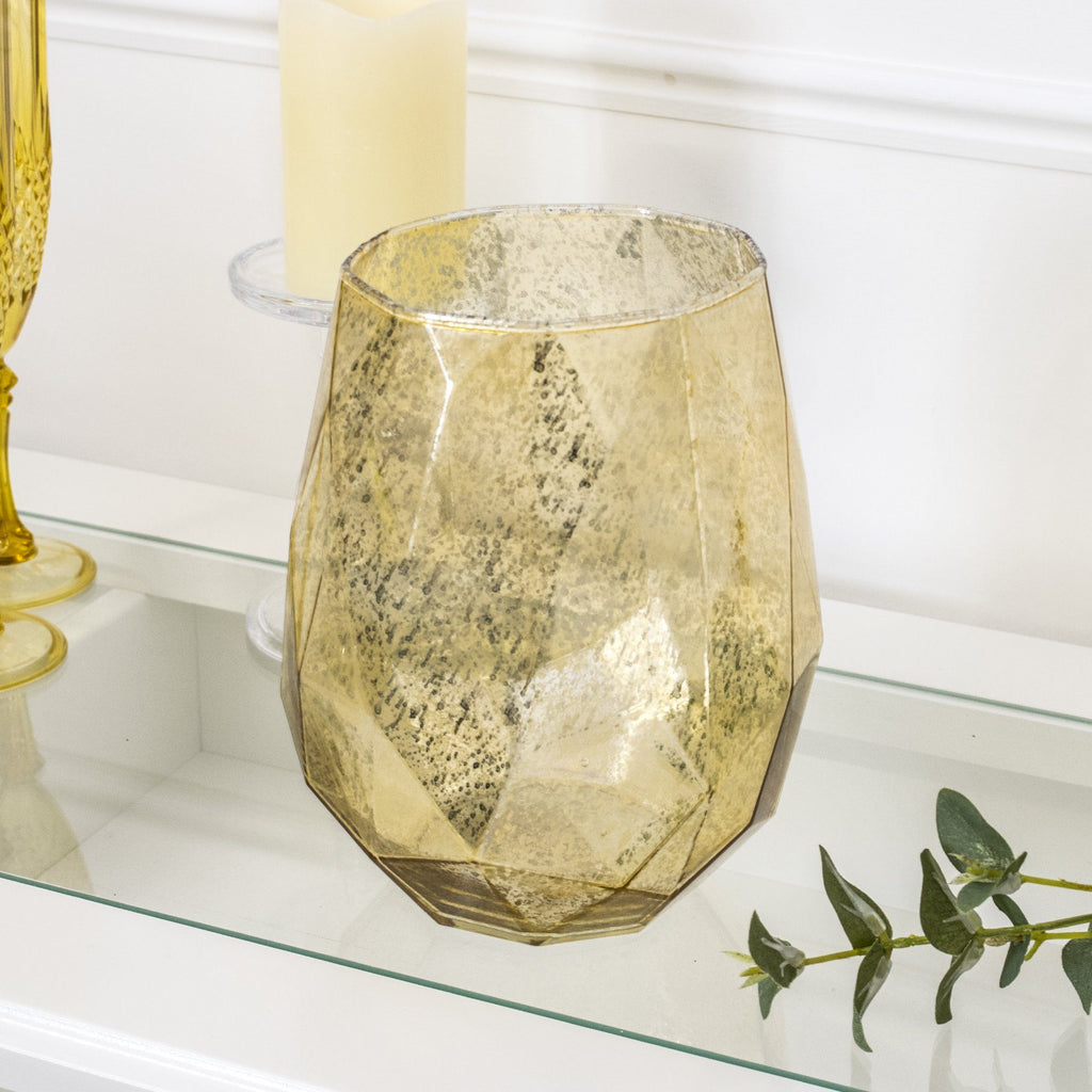 Lustre Tea Light Holder Gold