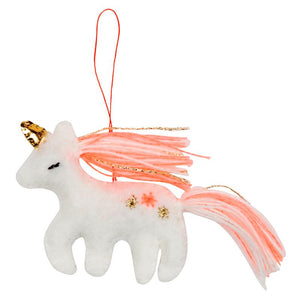 Mini Unicorn Fabric Decorations (x3)
