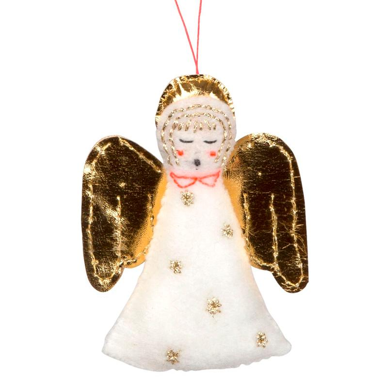 Singing Felt Christmas Angel Decoration