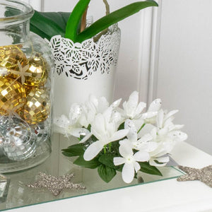 Glitter Snowdrop Candle Wreath Ring