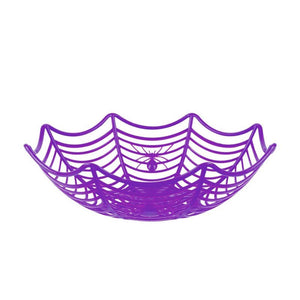 Halloween Cobweb Party Basket Purple
