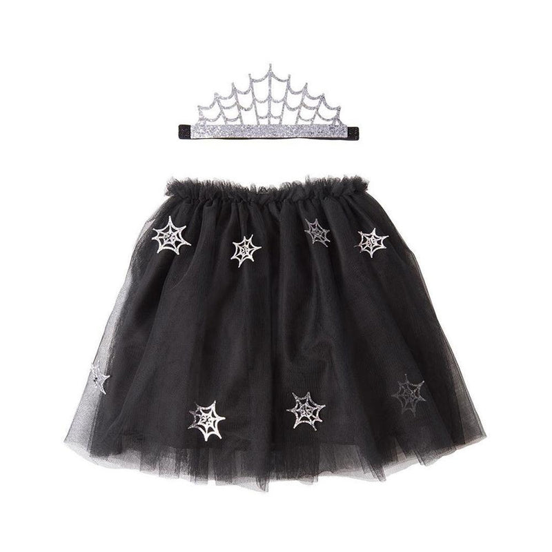 Cobweb Tutu And Tiara Halloween Costume