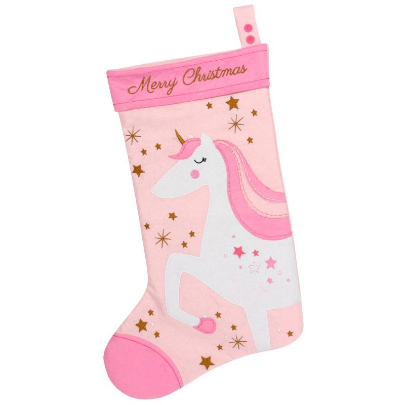 Unicorn Felt Stocking