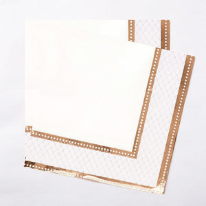 Rose Gold Napkins (x16)