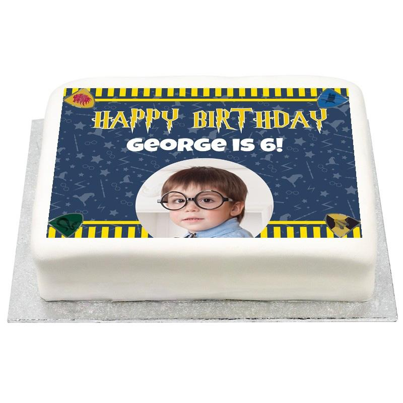 Personalised Photo Cake - Wizard Magic