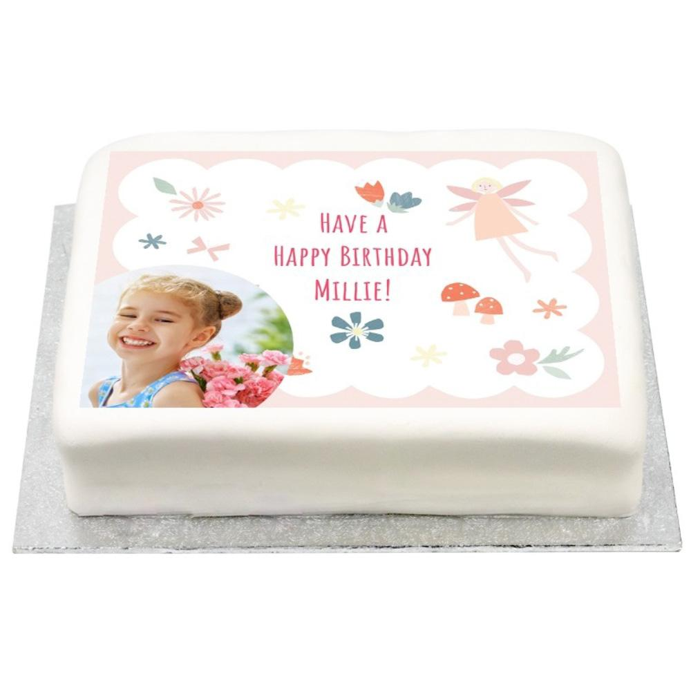 Personalised Photo Cake - I Believe in Fairies