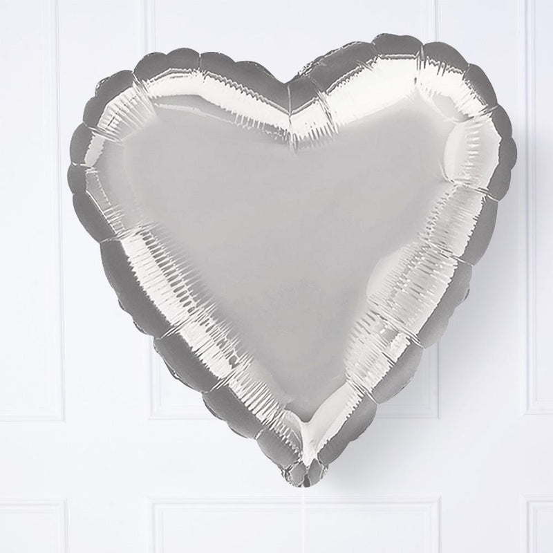Heart Foil Balloon - Silver