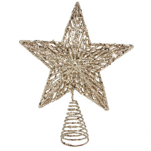 Gold Glitter Tree Star