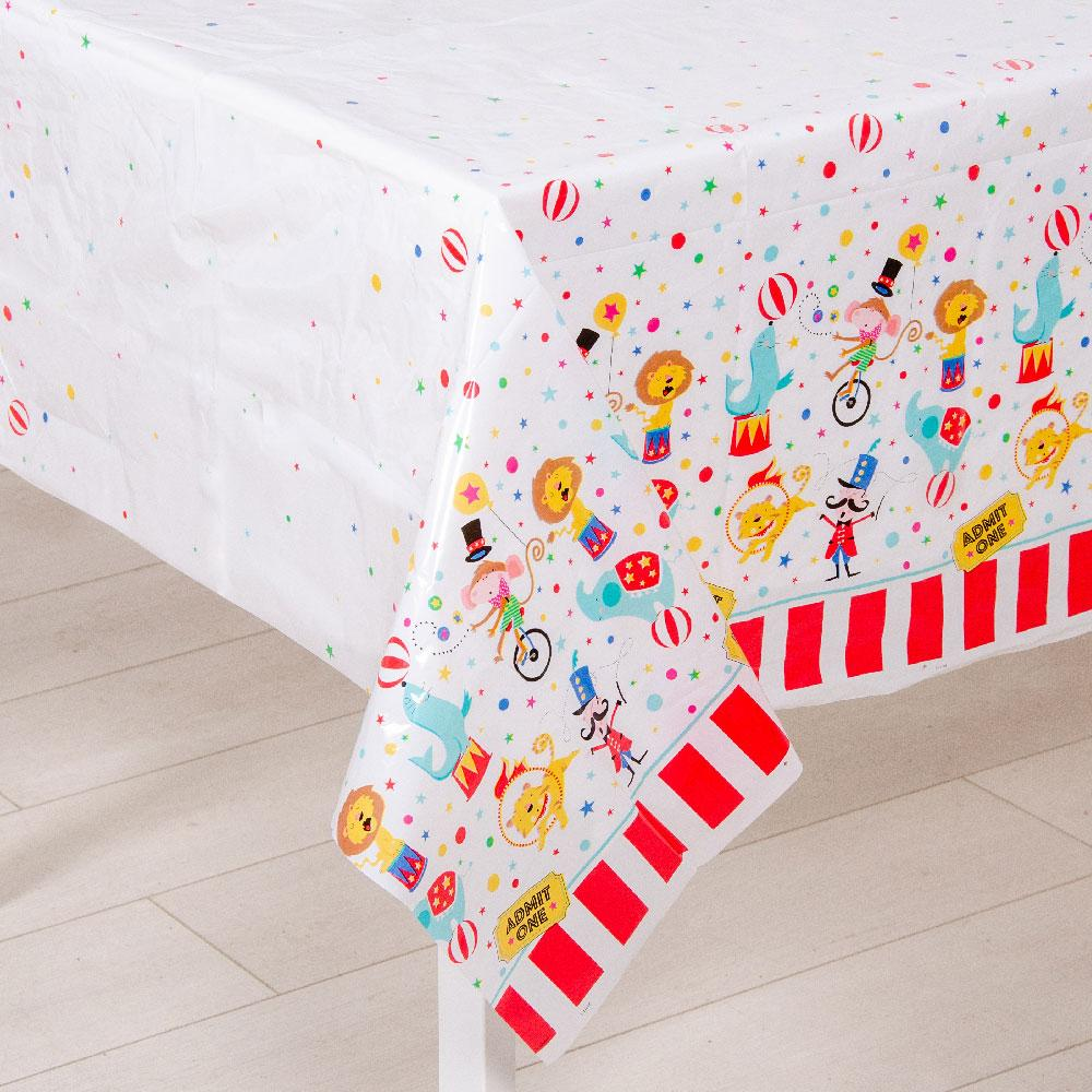 Circus Carnival Plastic Party Table Cover
