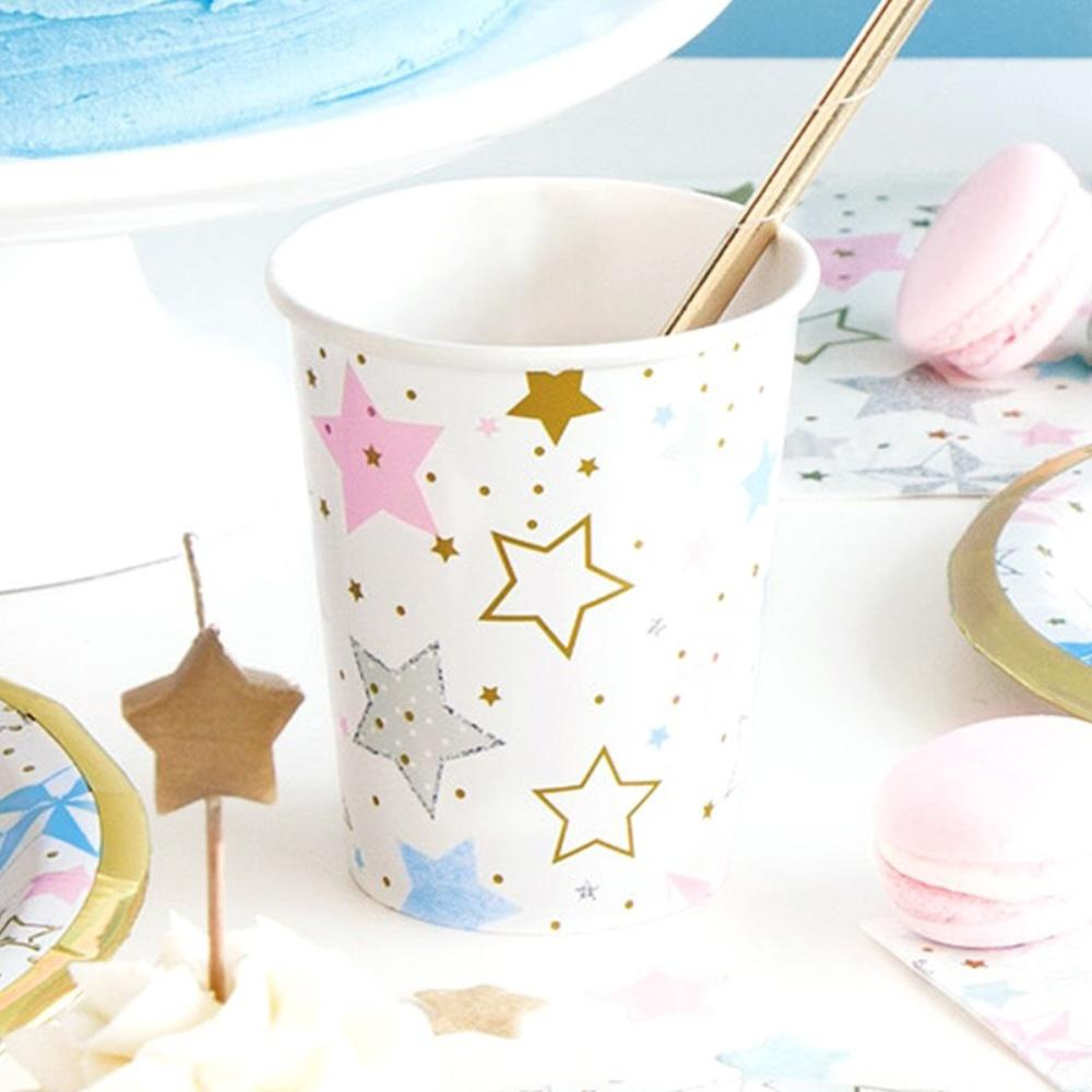 Twinkle Little Star Paper Party Cups (x8)