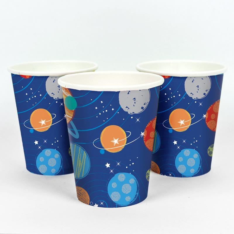 Blast Off Paper Party Cups (x8)
