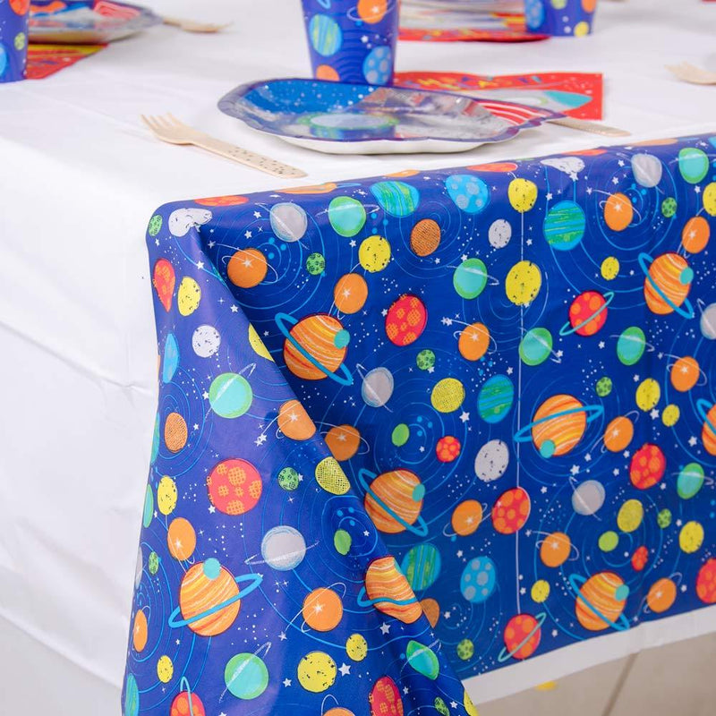 Blast Off Plastic Party Table Cover
