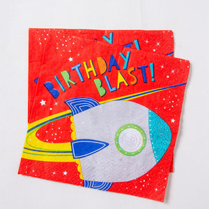Blast Off! - Paper Party Napkins (x16)