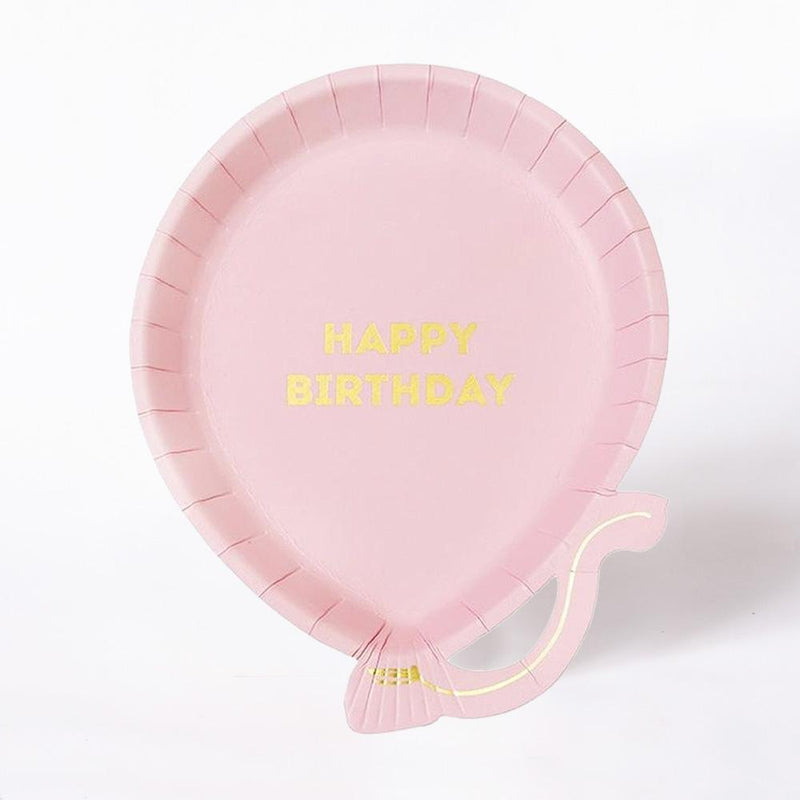 We Heart Birthday Pale Pink Paper Party Plates (x12)