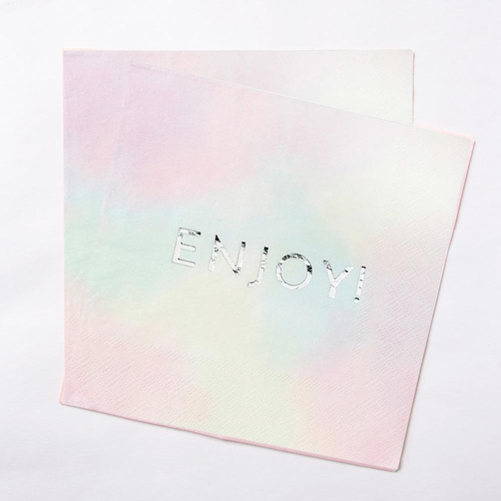 We Heart Pastels Party Napkins (x16)