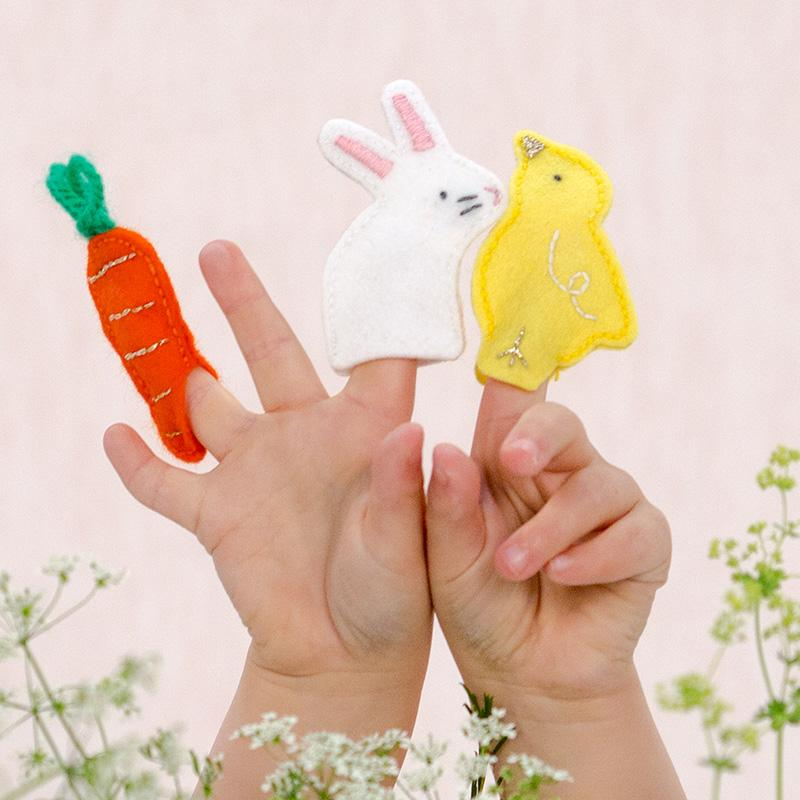 Bunny Finger Puppets (x3)