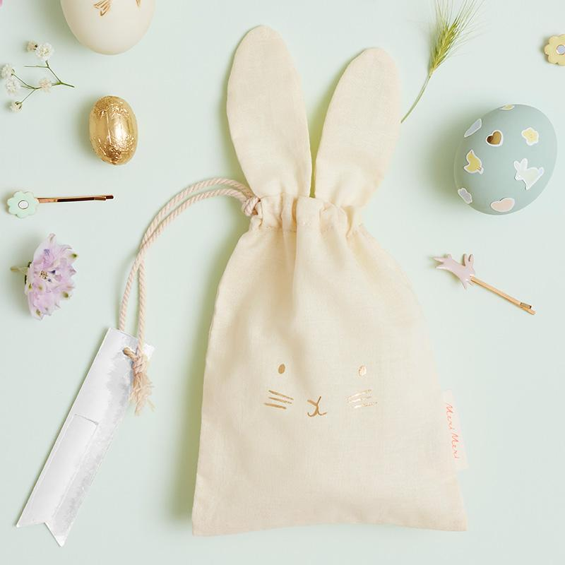 Pastel Bunny Party Gift Bags (x3)
