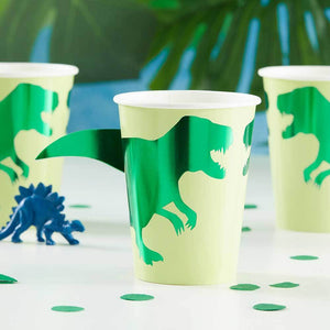 Roarsome Dinosaur Paper Party Cups (x8)