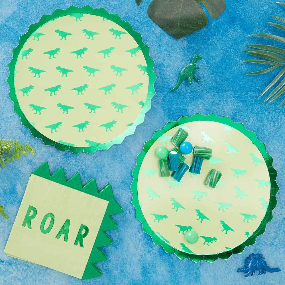 Roarsome Dinosaur Paper Party Napkins (x16)