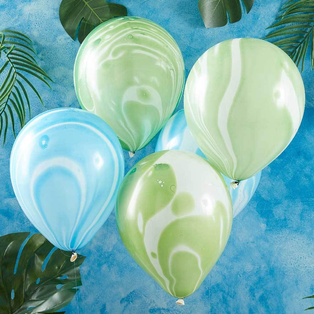 Roarsome Dinosaur - Marble Party Balloons (x10)