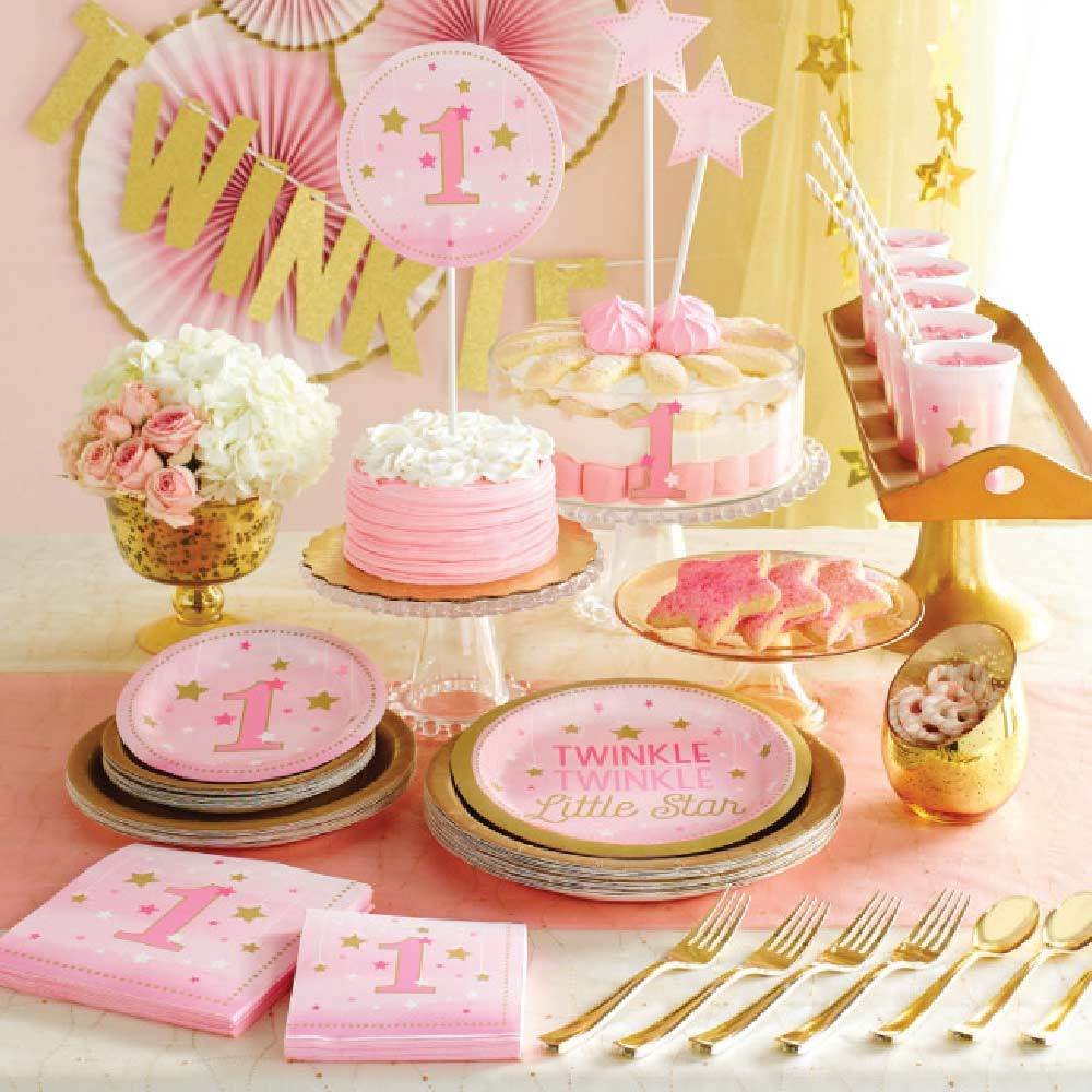 One Little Star Pink Party Kit (x8)