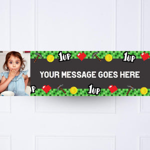 Gaming Party Personalised Party Banner