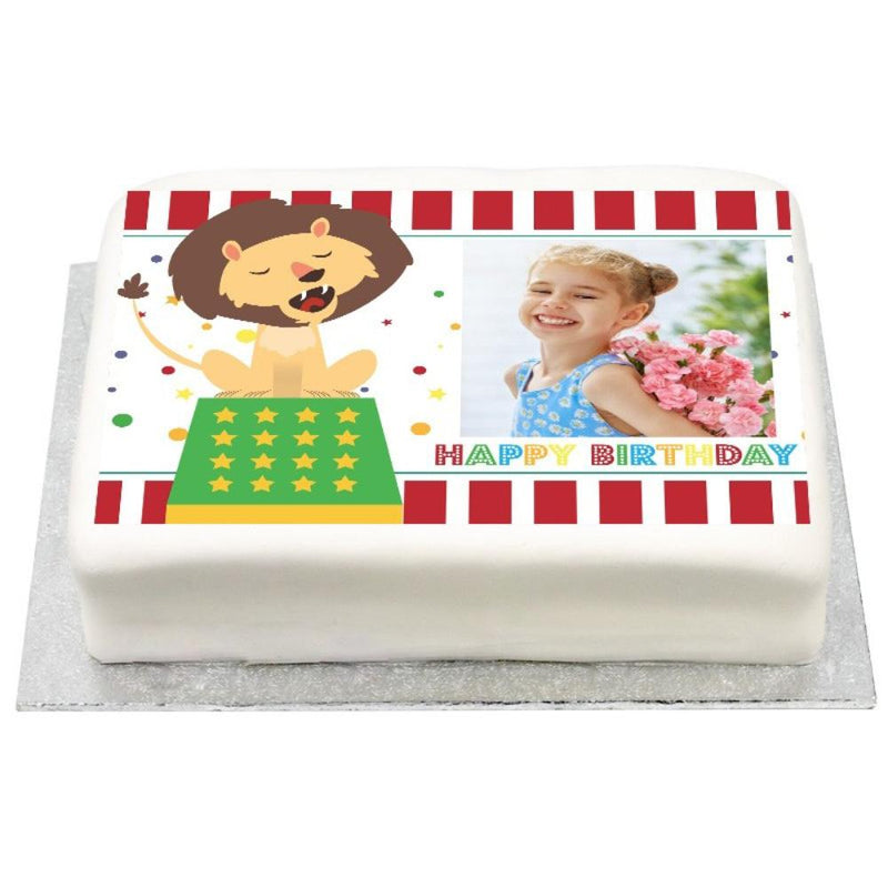 Personalised Photo Cake - Circus Carnival