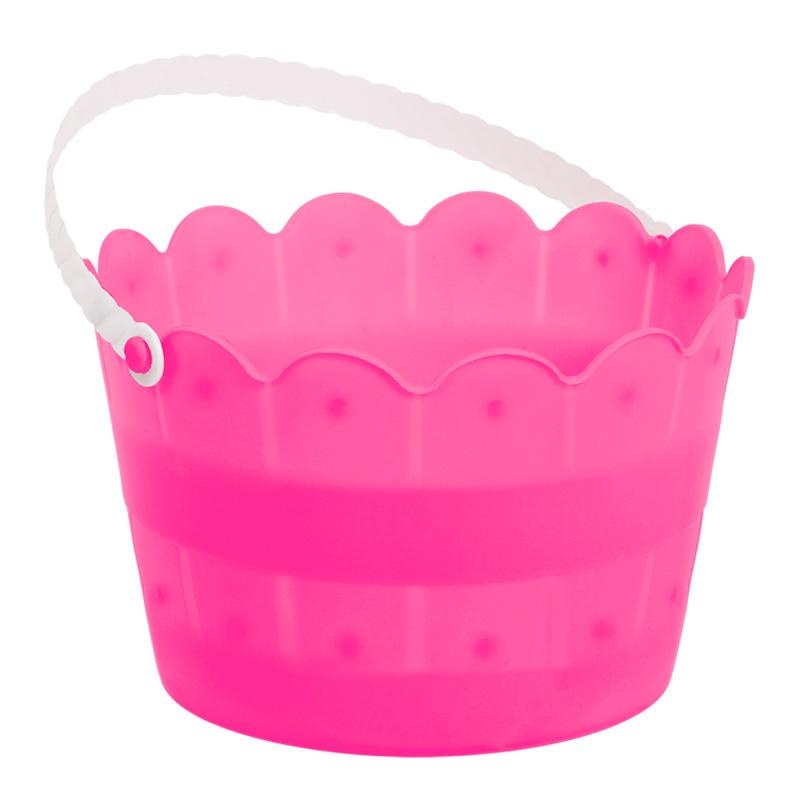 Scalloped Bucket - Pink