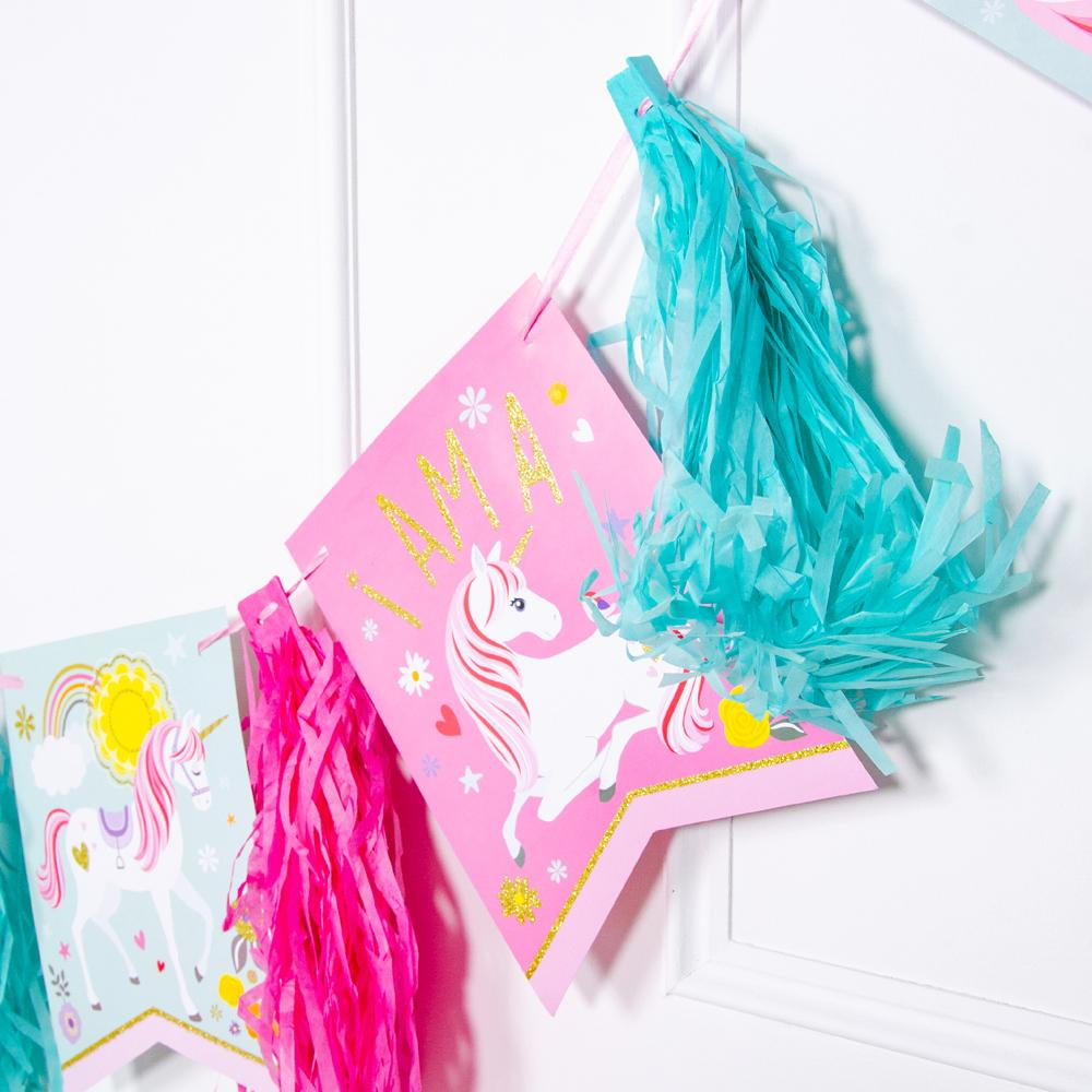 Magical Unicorn - Tasseled Party Garland