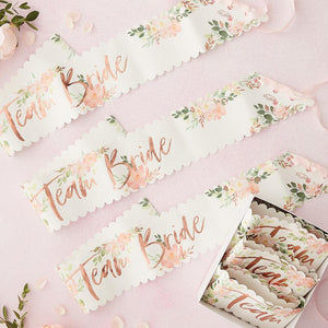 Floral Hen Party - Hen Party Sashes (x6)