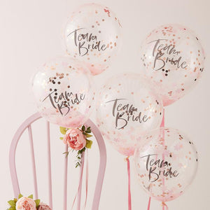 Floral Hen Party - Hen Party Confetti Balloons (x5)