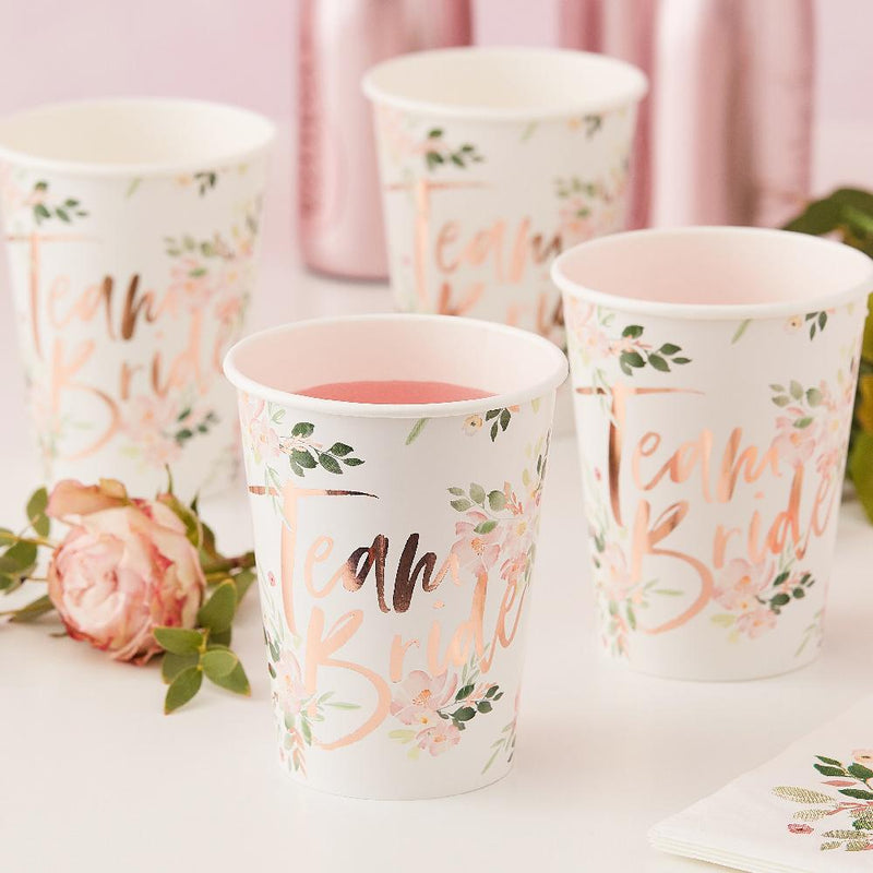 Floral Hen Party - Hen Party Paper Cups (x8)