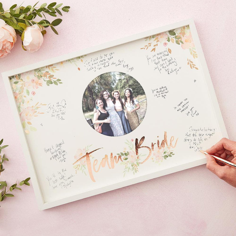 Floral Hen Party - Guest Book Frame