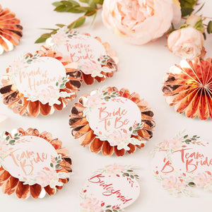 Floral Hen Party - Hen Party Badges (x6)